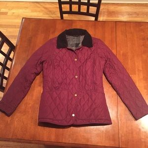 BARBOUR Quilted Montrose Jacket in Rosewood US 6